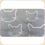 Silicone Placemat--Kitties on Gray
