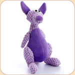 One Checked Purple Kangaroo