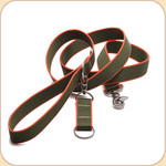 Eco-Friendly Leash--olive & orange
