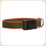 Eco-Friendly Collar--olive & orange