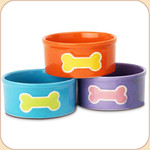 Tiny Bone Ceramic Water Bowl--3 colors
