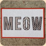 Woven MEOW Placemat--non skid