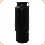 H2O 25 oz. INSULATED Portable Water Bottle--Black