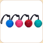Good Dog Rubber Ball with Rope--Assorted Colors