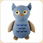 One Canvas Big Blue Owl Toy