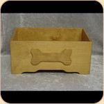 Wooden Toy Box--Bone