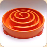 Slow Bowl in 2 sizes--Orange Spiral