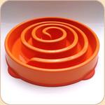 Slow Bowl in 2 sizes--Orange Spiral
