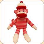 Striped Sock Monkey--Pink