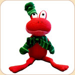 Nattily-Attired Crinkle Frog--Red