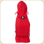 Hooded Raincoat in Red--Pocket