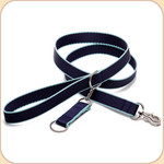 Eco-Friendly Leash--navy & turquoise