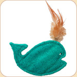 Loofah Whale Toy--Feather Spout