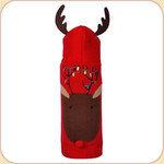 Reindeer Lights Hoodie Sweater--Antler Hood