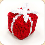 Crocheted Red Gift Box
