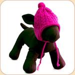 Knit Tassel Hat in Pink
