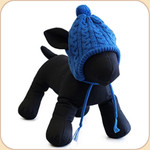 Knit Tassel Hat in Blue