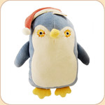 Blue Flat Penguin in Hat--large