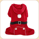 Santa's Helper Hooded PJ's in Red