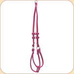 Microsuede Step In Harness with Leash--Pink