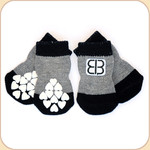 EB Non-Slip Socks in Black/Gray--x4