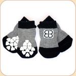 EB Non-Slip Socks in Black/Gray--x4