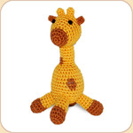 Crocheted Goldie Giraffe