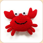Crocheted Red Crab