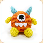 Crocheted Little Orange Monster
