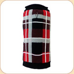 London Plaid Roll Neck Sweater--Black & Red