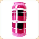 London Plaid Roll Neck Sweater--Pink & Black
