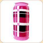 London Plaid Roll Neck Sweater--Pink & Black