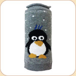 Blue-Tufted Penguin Roll Neck Sweater