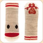 Sock Monkey Non-Slip Socks--x4