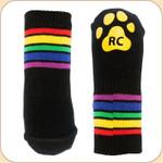 Striped Non-Slip Socks--x4