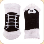 Black High Top Non-Slip Socks--x4