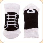 Black High Top Non-Slip Socks--x4