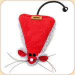 Isosceles Mouse Catnip Toy in Red