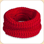Knit Infinity Scarf in Red