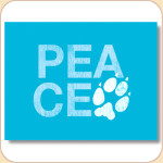 PEACE Pawprint Card