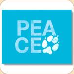 PEACE Pawprint Card