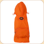 Hooded Raincoat in Orange--Pocket