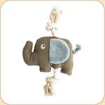 One Rope Canvas Grey Elephant Toy