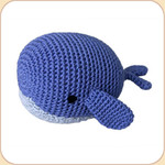 Crocheted Blue Whale