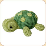 Crocheted Green Turtle
