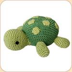 Crocheted Green Turtle
