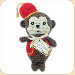 Crocheted Monkey in Fez