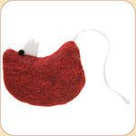 Holiday Wool Mouse Catnip Cat Toy