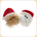Holiday Hairball Cat Toy--Red Hat
