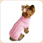 Fisherman Knit Pink Sweater
